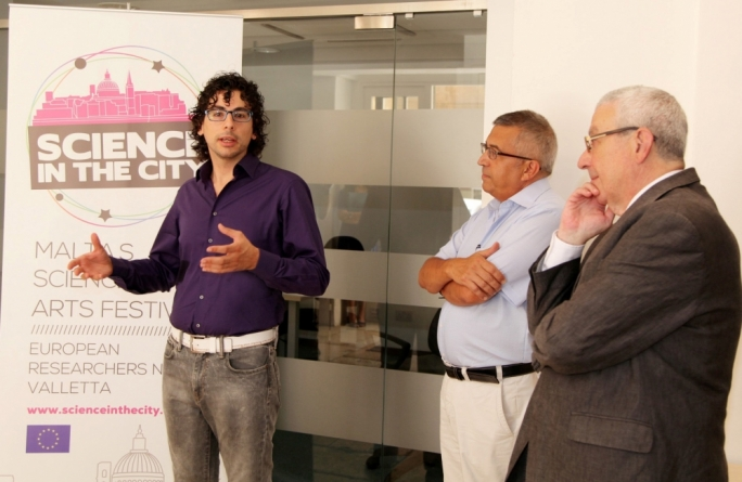 Edward Duca, Wilfred Kenely and Prof Alex Felice addressing the press conference at Valletta Campus
